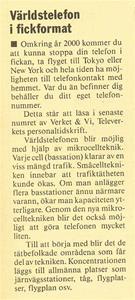 2013 11 20. Världstelefon i fickformat.