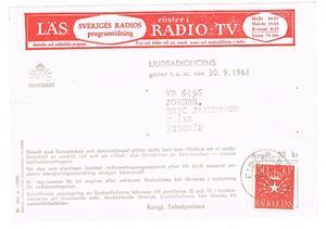 Radiolicens 1961 09 30.