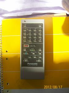 607. Panasonic, fjärkontroll. Sveriges Radio/Television. Typ: NV-A17 E. Nr: VQT 0976. Fotonr: 100_9474.