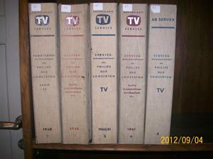 673. AB TV-Service, funktionsbeskrivning radio/TV. Nr: 2, 3, 4, 5, 6 = 5 stycken. År: 1960-talet/Sverige. Fotonr: 100_9674