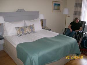 2012 03 08. Den fina sängen på Hotell Radisson Blu Strand.