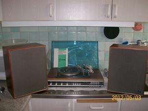678. Luxor, vinylspelare med radiodel. Typ: Dirigent 2X7G Stereo 3822. Nr: 398289. Sverige år 1973. Fotonr: 100_9277.