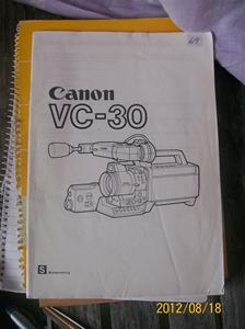 619. Såld. Canon, instruktionsbok.