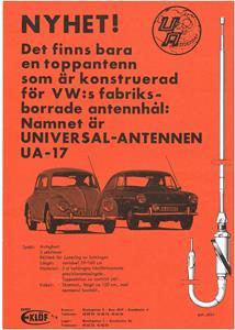Reklam för bilradioantenn på VW.