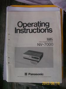 622. Panasonic, Instruktionsbok.