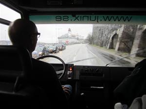 11. Här lämnar vi Birka efter en trevlig kryssning och kör mot Eskilstuna.