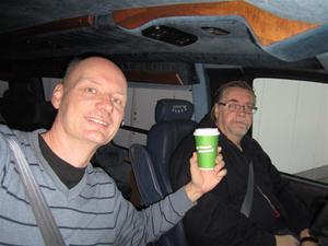 3. Det blev ett litet kaffestopp i Västerås. Där Göran hoppade ombord.