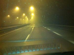 10. På väg hem i dimman efter en trevlig spelning i Hallunda FH.