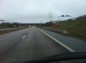 1. På väg mot Hallunda. Grått och trist med +5 grader i luften.