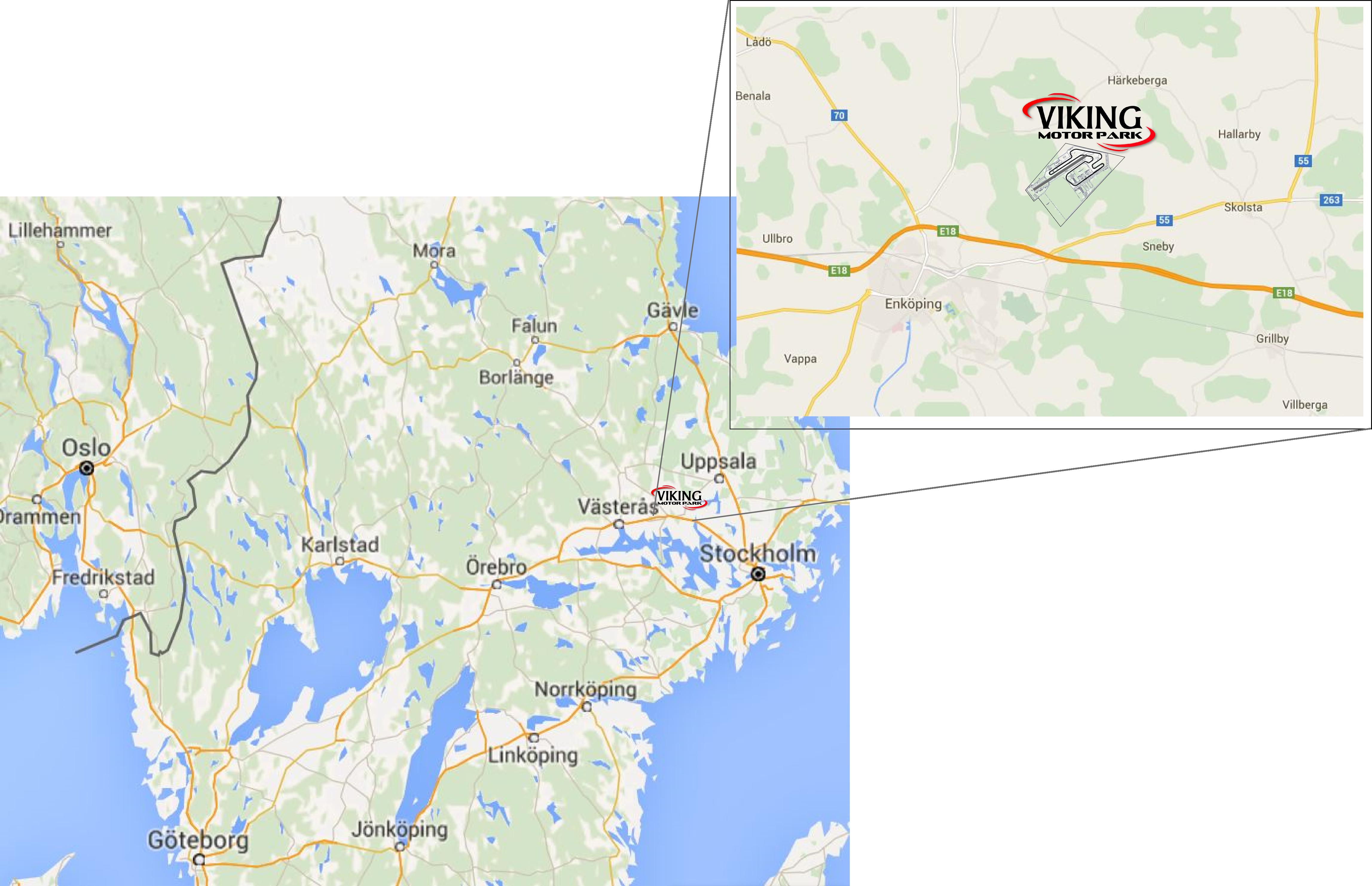karta - enköping - viking motorpark