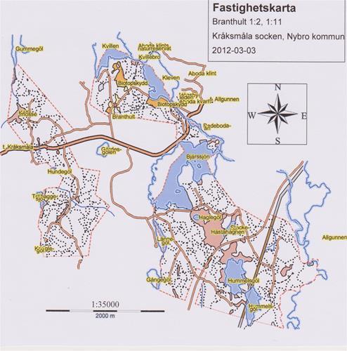Fastighetskarta Branthult B
