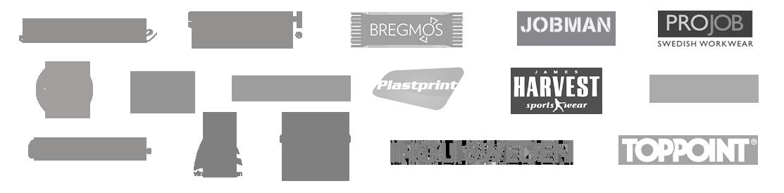 newwave, topppoint, ingli sweden, south west, projob, craft, sol's, bregmos, 8848, harvest, plastprint, kosta boda, orrefors